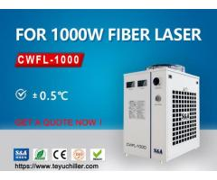 Industrial recirculating chiller for 1KW fiber laser cutting equipment